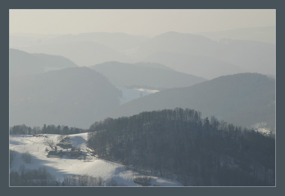 Hügel und Täler 2 - Winter