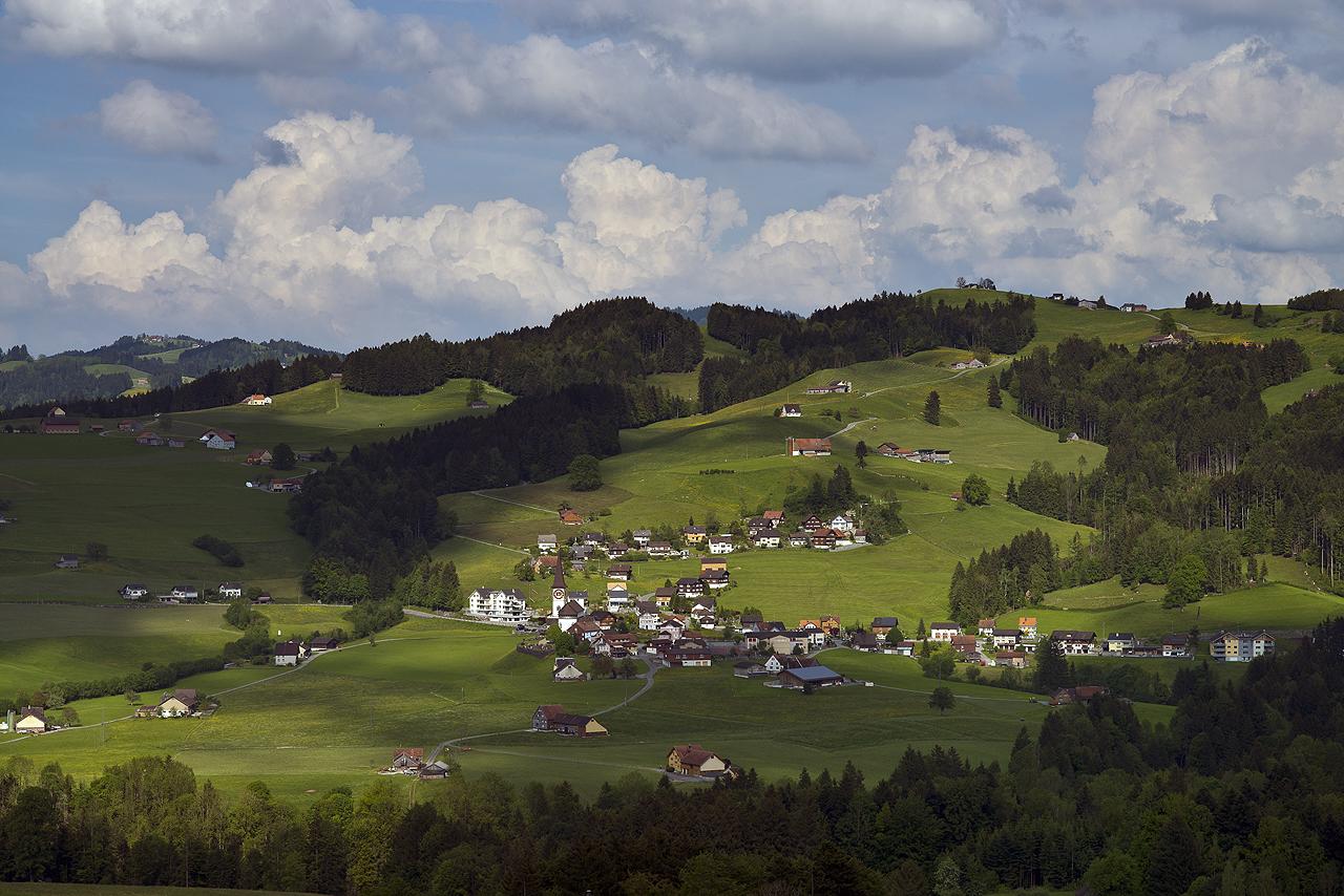Hügeliges Appenzellerland