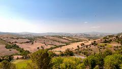 Hügellandschaft bei Cinigiano