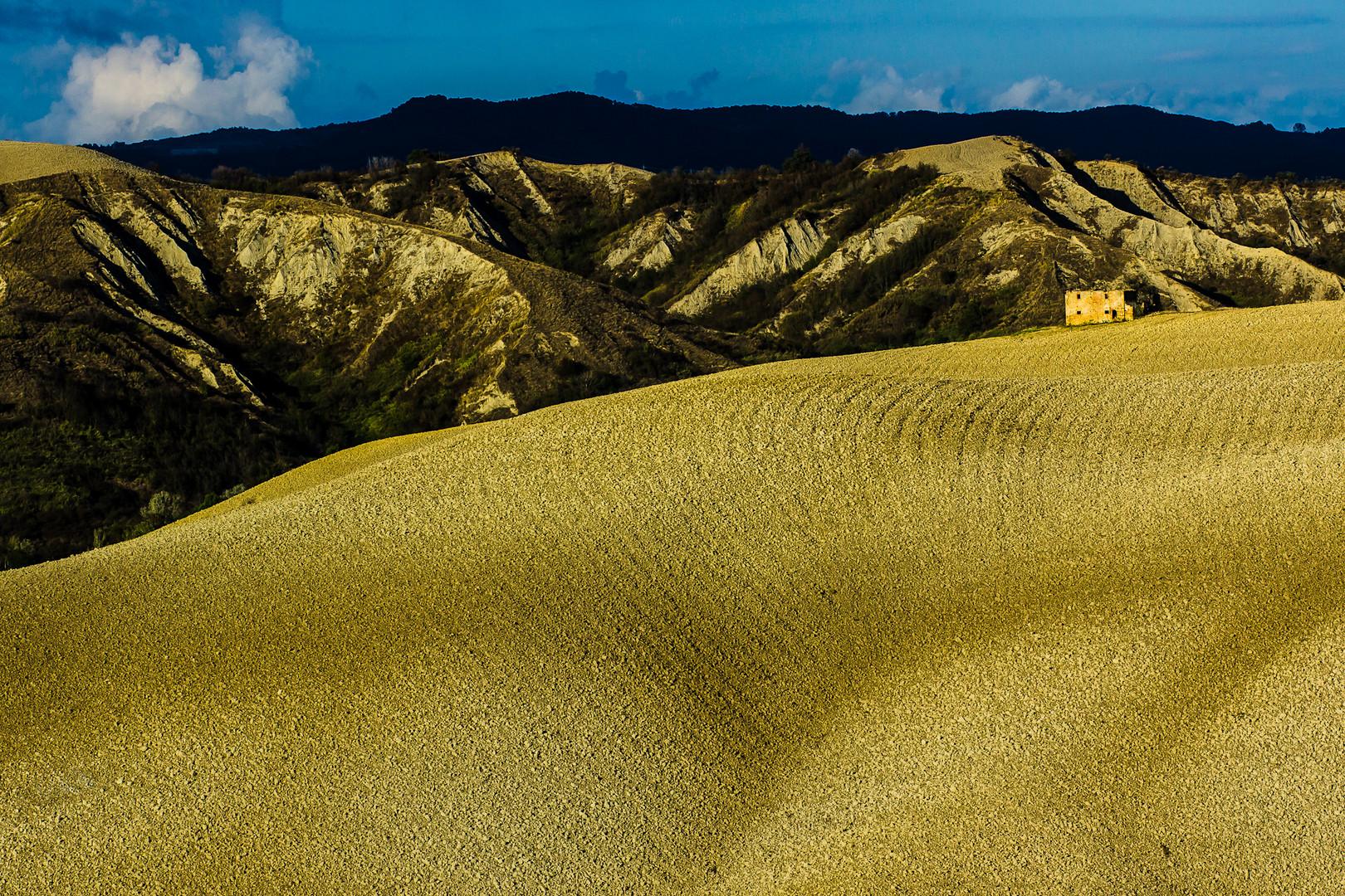 Hügellandschaft bei Volterra