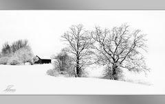 - Hütte + 2 Bäume -