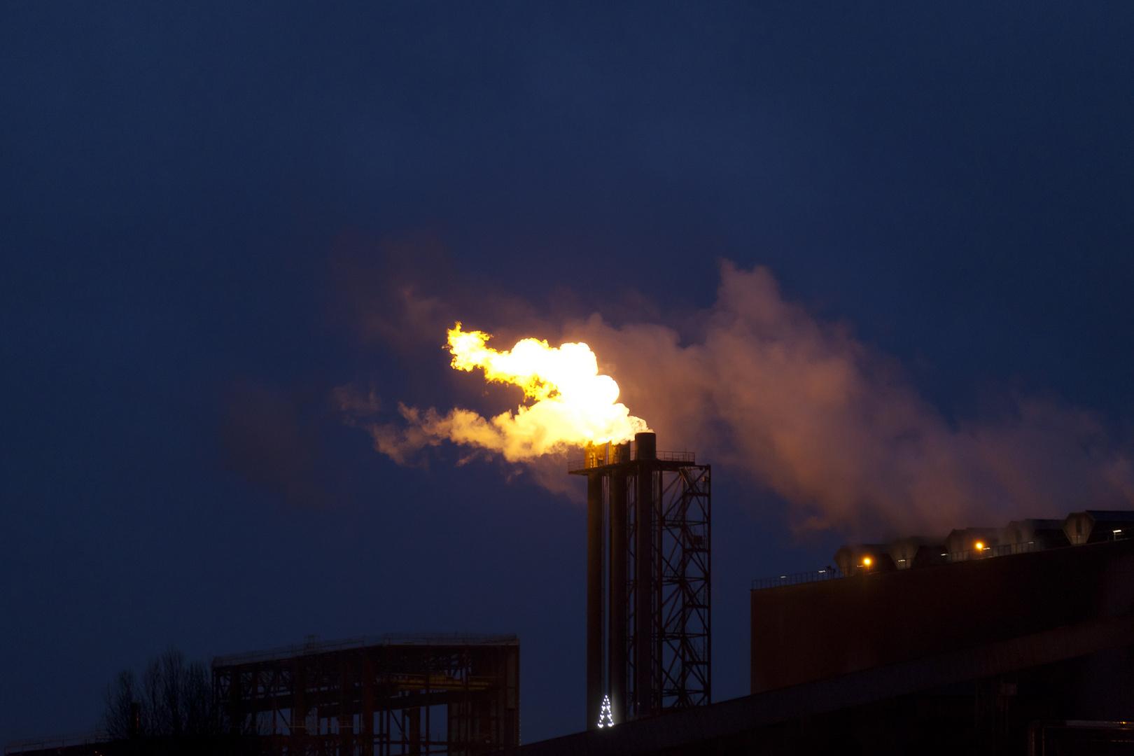 Hütte Gas abbrennen