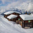 Hütten im Schnee