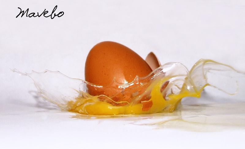 Huevo explosionado.