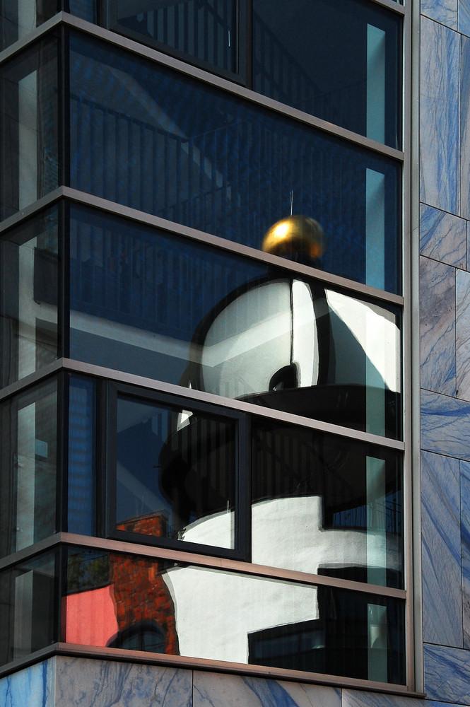 Hundertwasser im Spiegel