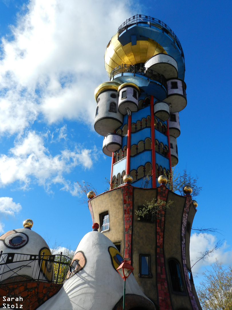 Hundertwasser Kunstler Turm Abendsberg Bayern Foto Bild