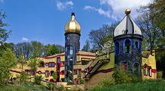 Hundertwasserhaus im Frühling