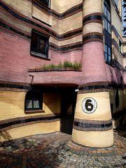 Hundertwasserhaus in Darmstadt - Detail (2)