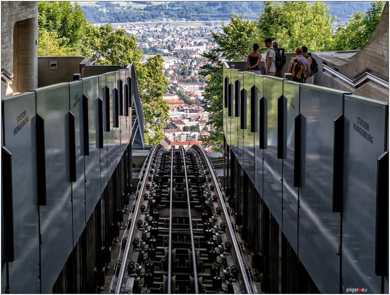 Hungerburgbahn - abwärts