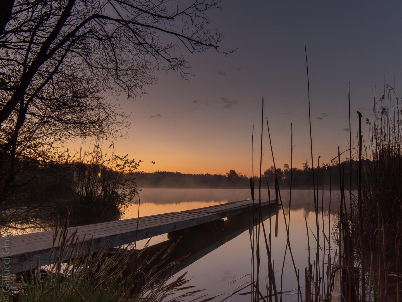 Husemersee  im Morgenrot