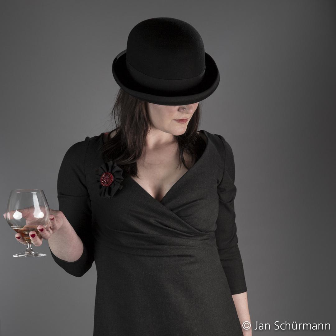 Hut mit Cognac
