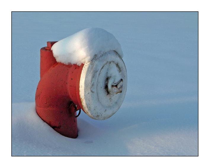 Hydrant eingeschneet