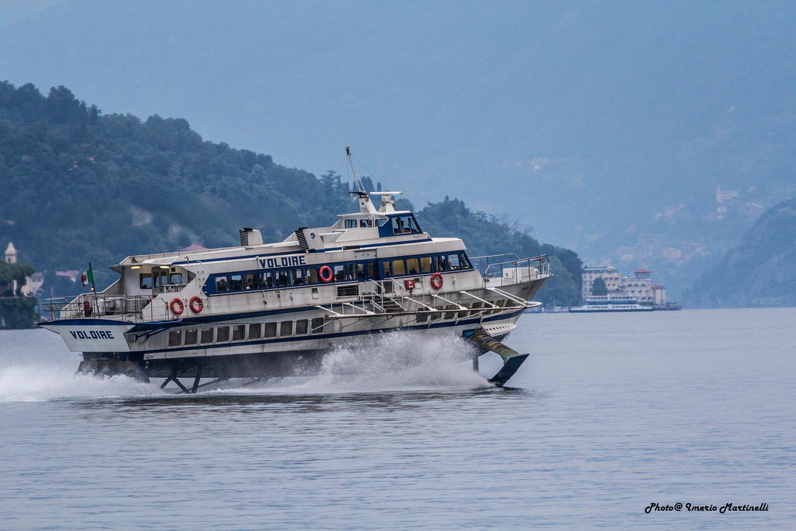 Hydrofoil on Lake Como