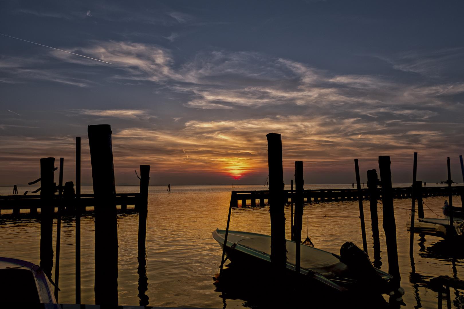 i caldi colori del tramonto