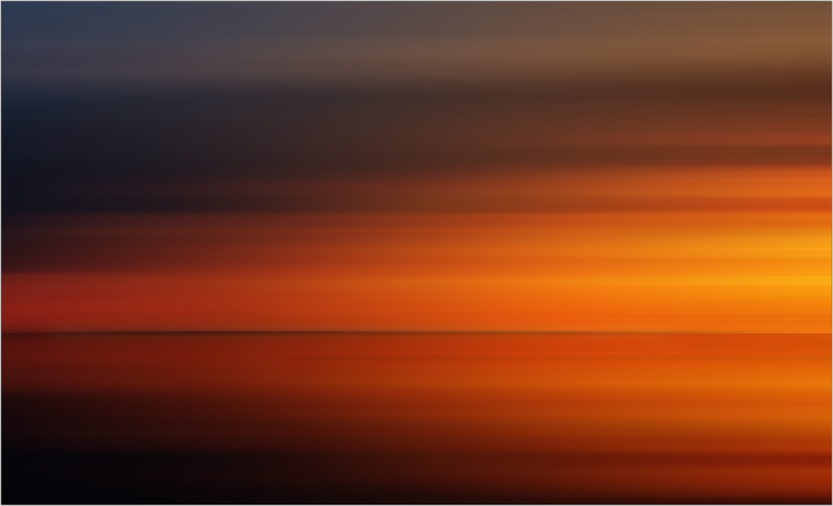 I colori del tramonto sul mare.