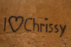 """I love Chrissy"""