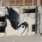 Ibis Bird Graffiti