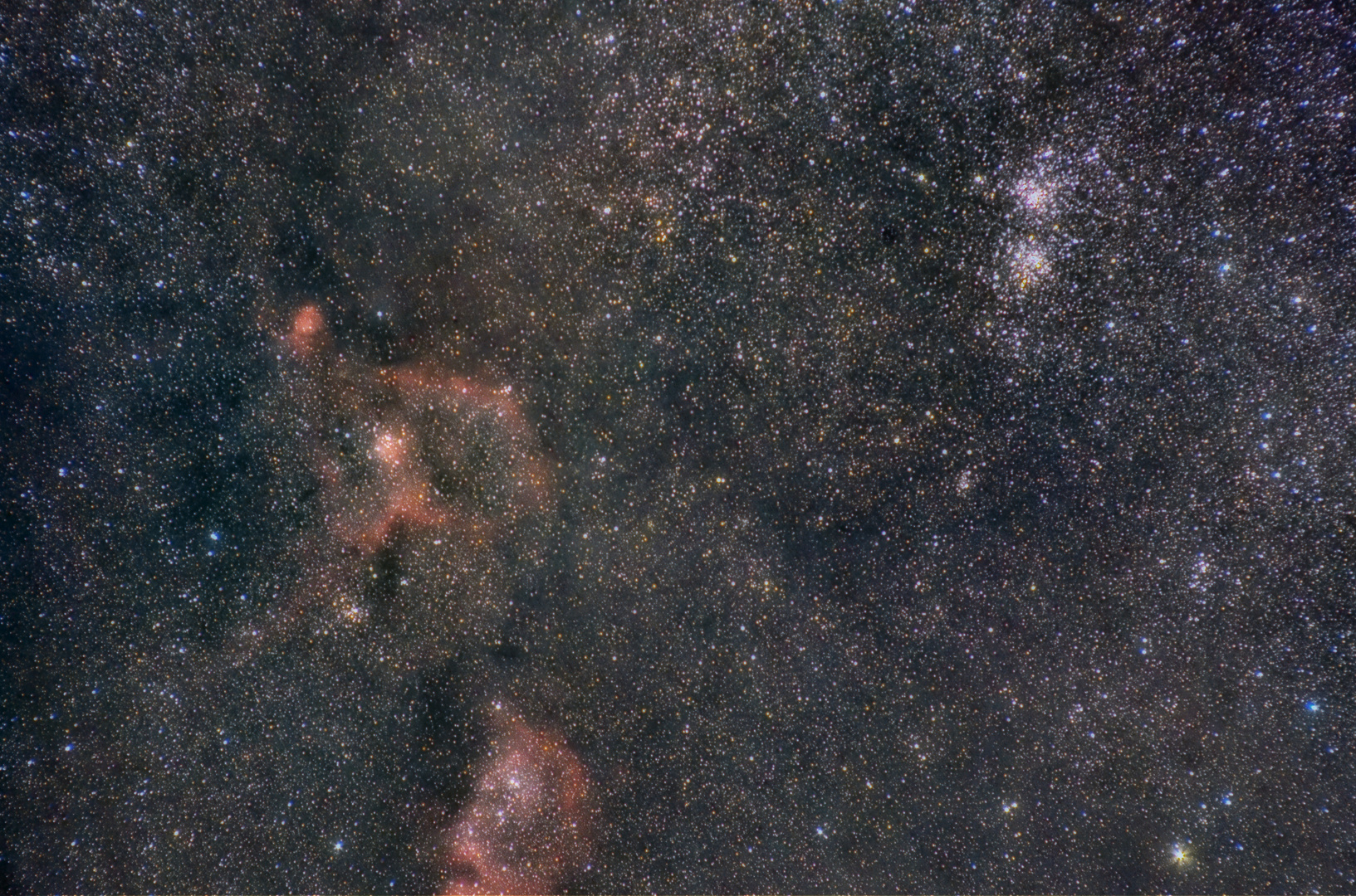 IC 1805 - H/Chi Widefield