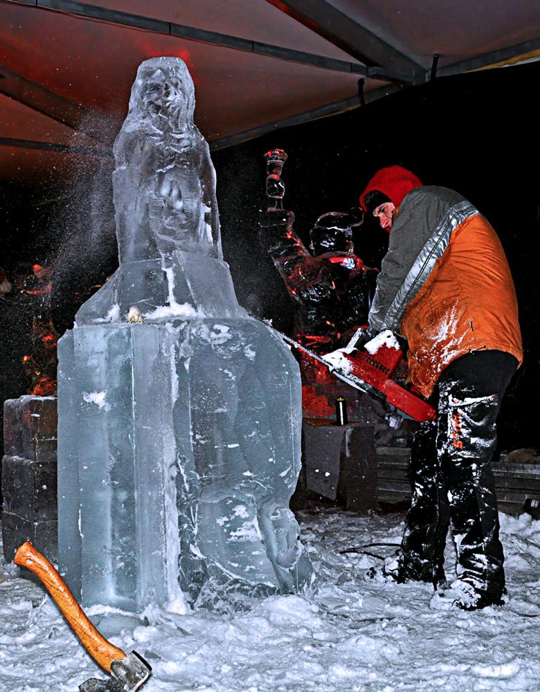 ICE ART III -der Künstler
