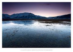 Ice at twilight
