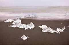 ice crystals at the beach