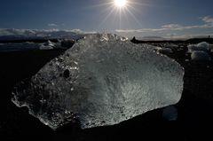 Ice-Fisch im Gletschersee Jökulsarlon