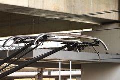 ICE-Stromabnehmer - Palette mit Schleifleisten