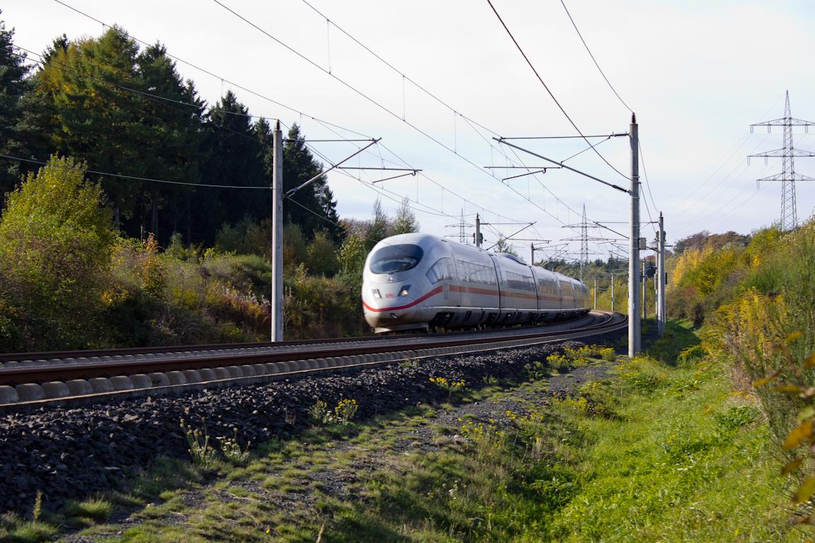ICE3 auf KBS472 NBS Rhein/Main Höhe Dernbach