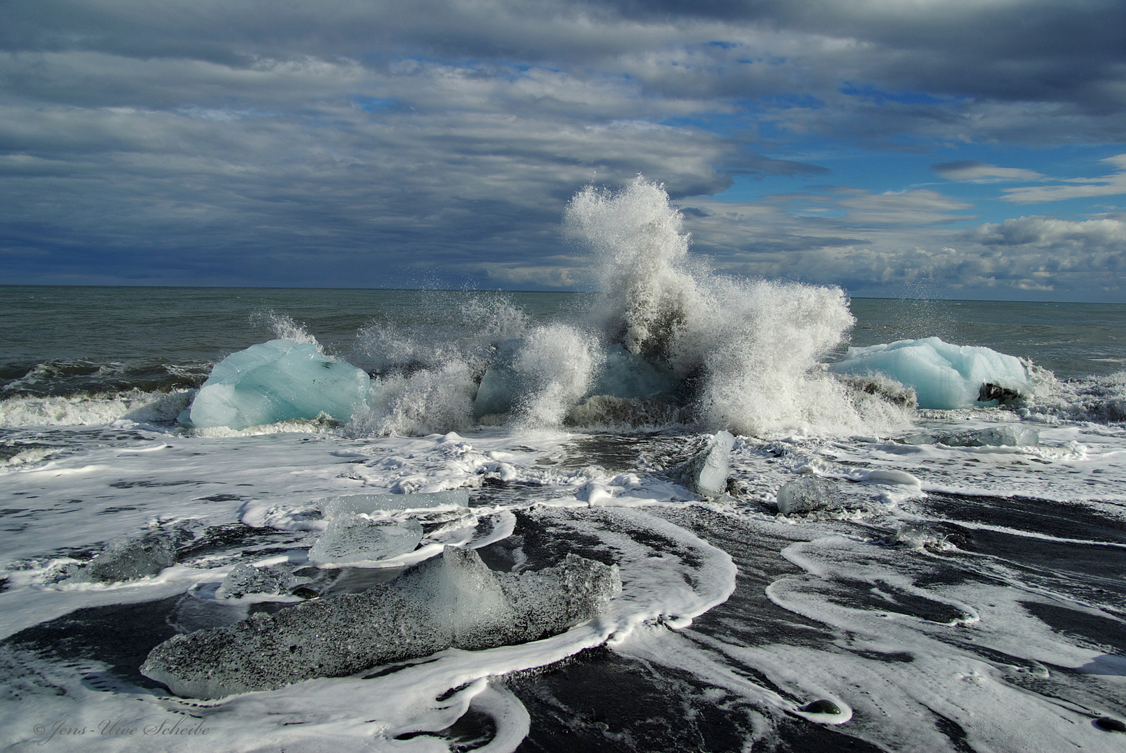 Iceland - Die Küste vor Jökulsarlon