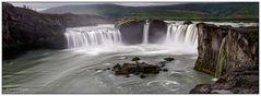 Iceland, Goðafoss panorama
