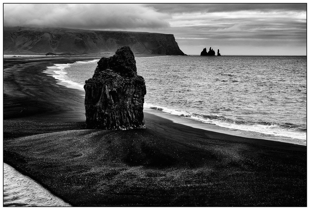 Iceland, monolith at Reynisfjara Beach