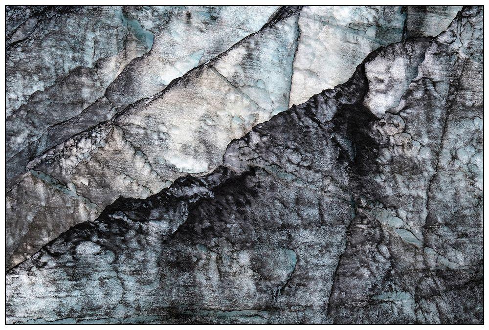 Iceland, Sólheimajökull Glacier Detail