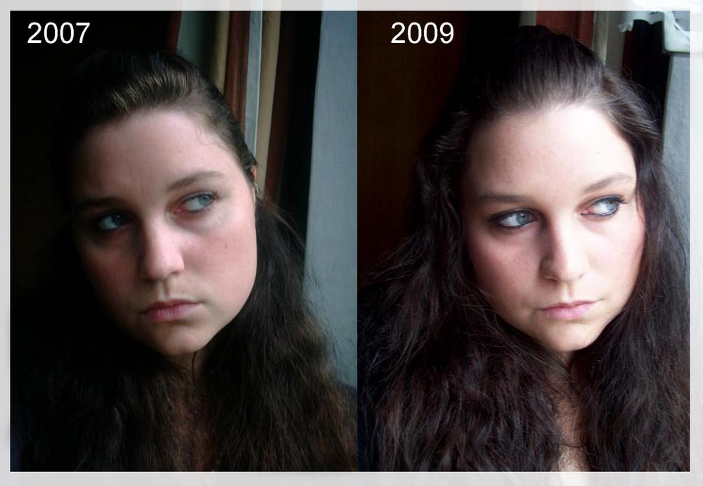 Ich 2007 & 2009 --- krass oder?