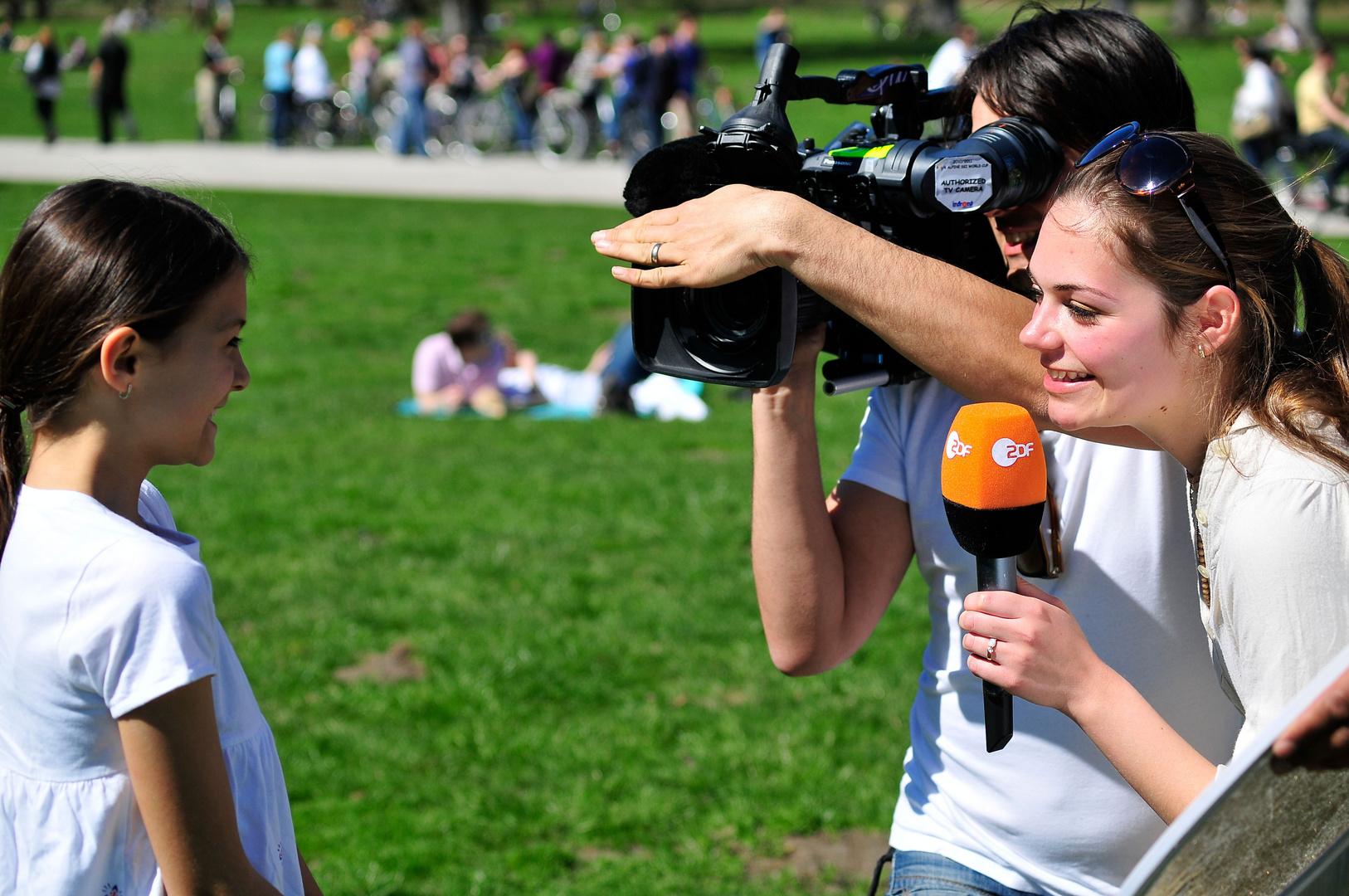 .ich beim ZDF Interview.