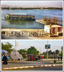 Ich benutze gerne diese Fähre über den Nil.