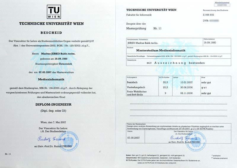 Ich bin Diplom-Ingenieur :)