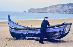 Ich bin Rentner, Nazare Portugal.   DSC_2846