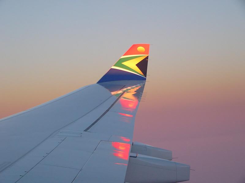 Ich flog in den südafrikanischen Morgen!