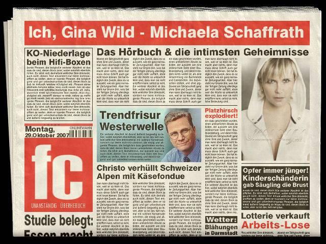 Ich Gina Wild Michaela Schaffrath Foto Bild X Archiv