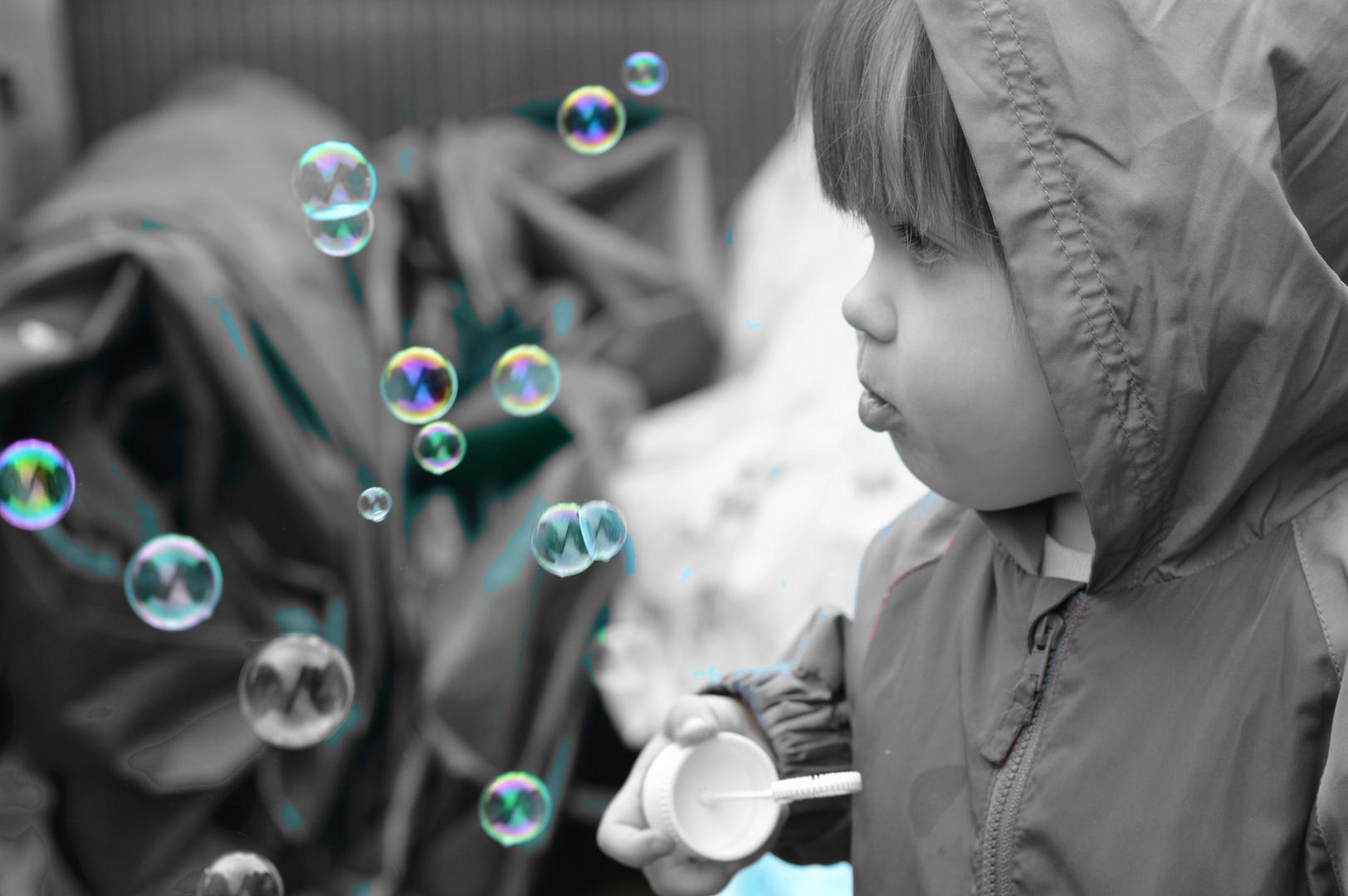 Ich habe den Ernst des Leben gegen Seifenblasen getauscht.