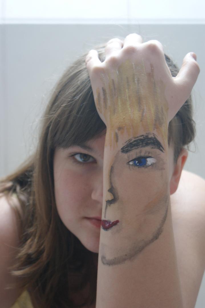 Ich habe zwei Gesichter!