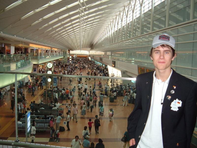 Ich in Tokyo am Flughafen