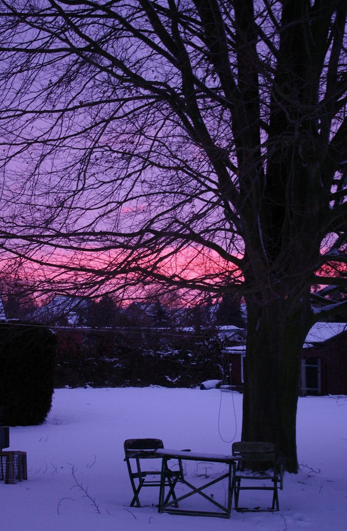 Ich mag den Winter und seine Farben