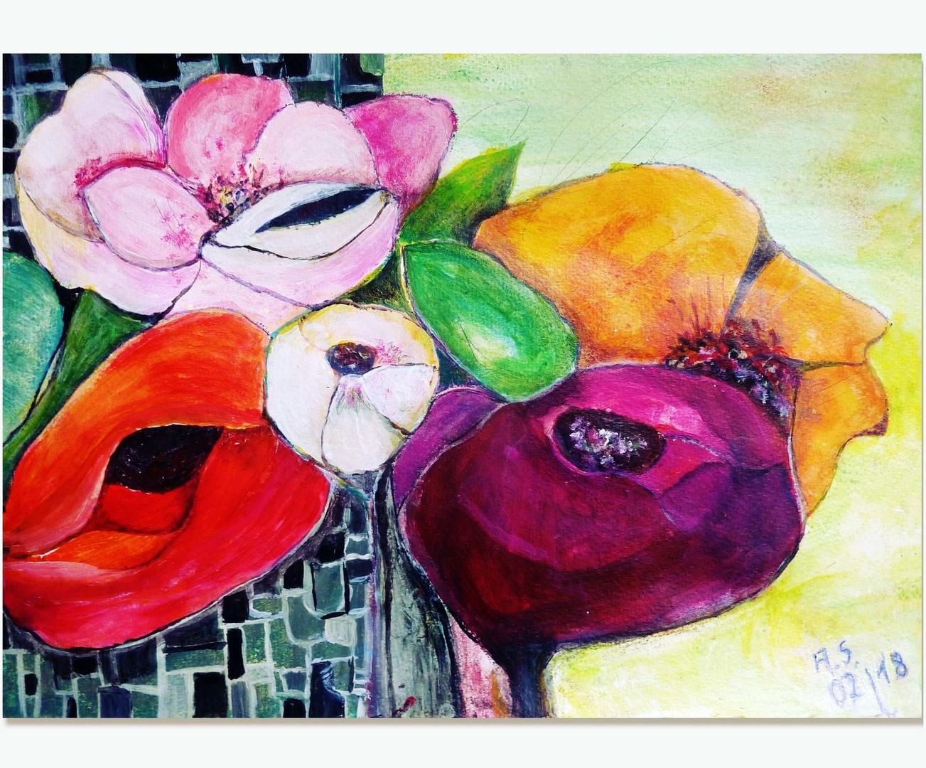 ich male  mir den Frühling