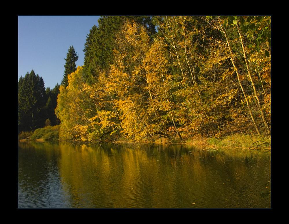 Ich saß im Herbst am Waldteich...