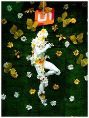 ___ich tanze zu den klängen zwitschernder krokusse in weiß gelb orange und einem spritzer purpur___