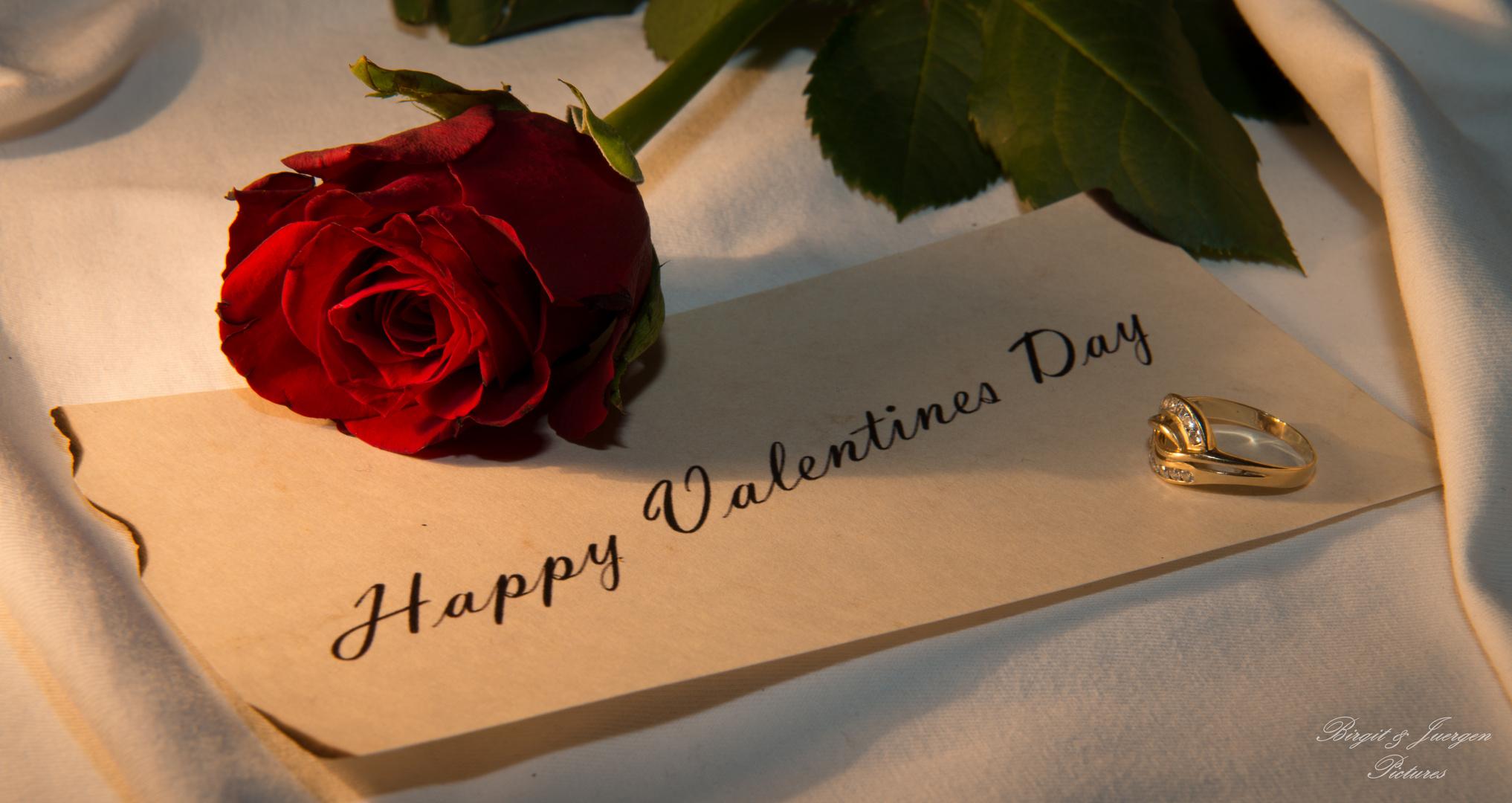 Ich Wünsche Einen Schönen Valentinstag Foto Bild Gratulation Und