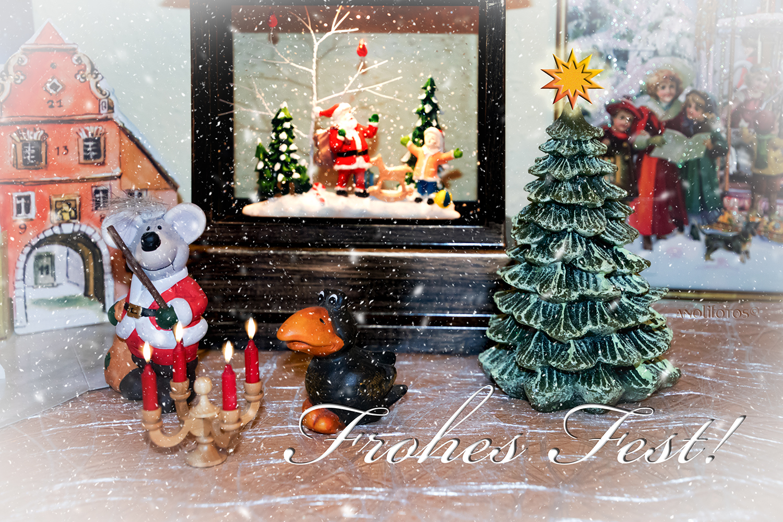 Wünsch Euch Allen Frohe Weihnachten.Ich Wünsche Euch Allen Ein Frohes Fest Meine Lieben Foto Bild