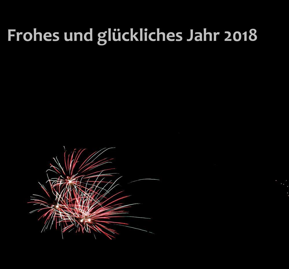 Ich wünsche Euch allen ein frohes neues Jahr 2018 Foto & Bild ...