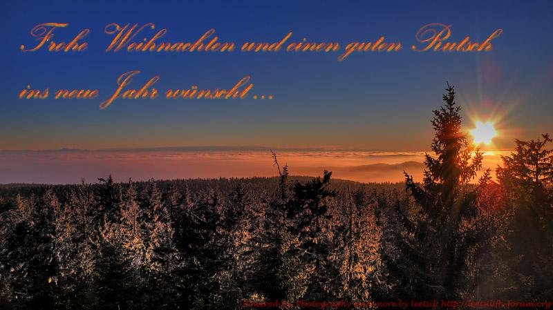 Ich wünsche euch allen Frohe Weihnachten und einen guten Rutsch ins ...